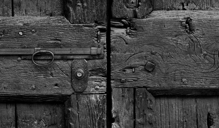An old wooden door