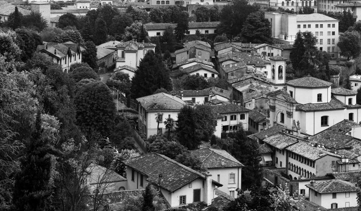 Black and white Città Alta