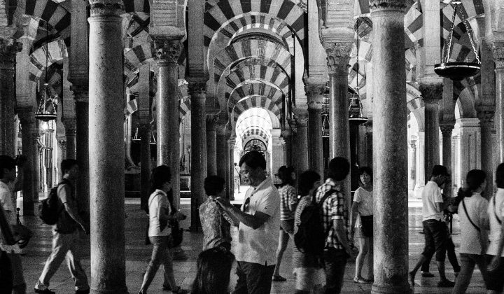 Black and white Mezquita