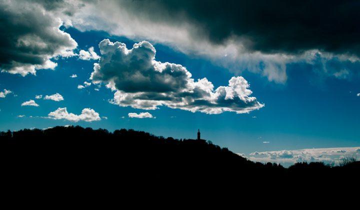 Bergamo e nuvole