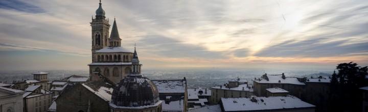 Bergamo under the snow