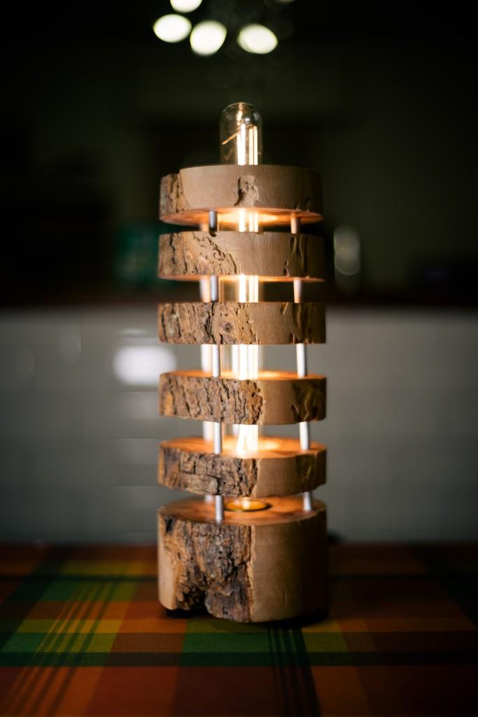 Telltale 187 Turned Olive Wood Lamp